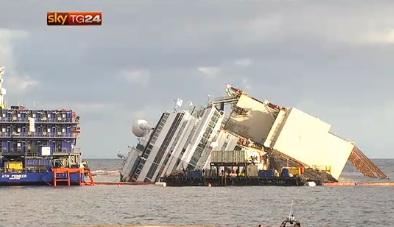 Diretta rotazione Costa Concordia 2