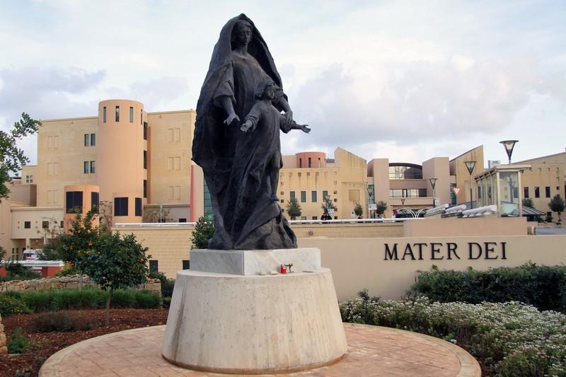 L'ingresso dell'Ospedale Mater Dei di Misida (Wikipedia)