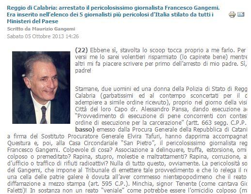 FRANCESCO GANGEMI GIORNALISTA ARRESTATO