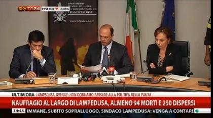 NAUFRAGIO LAMPEDUSA ALFANO