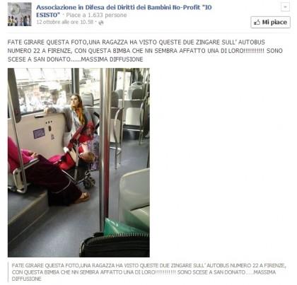 bimba rapita rom autobus firenze