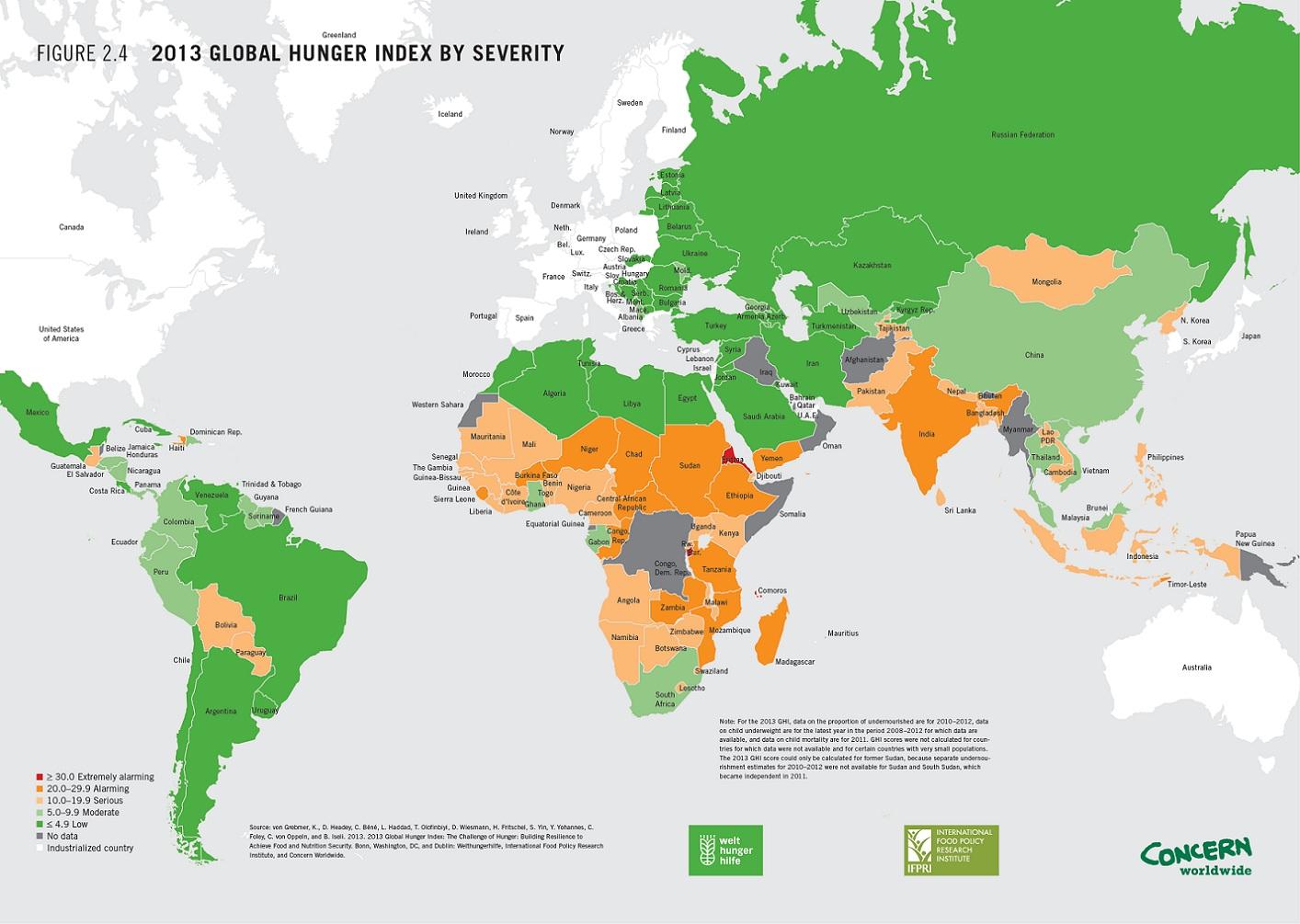 La mappa dei paesi pi affamati del mondo giornalettismo for Carta da parati dove si compra