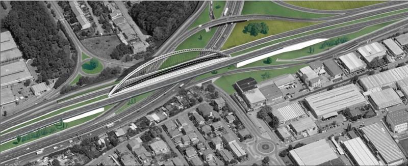 Il progetto del cavalcavia sostituito da un viadotto