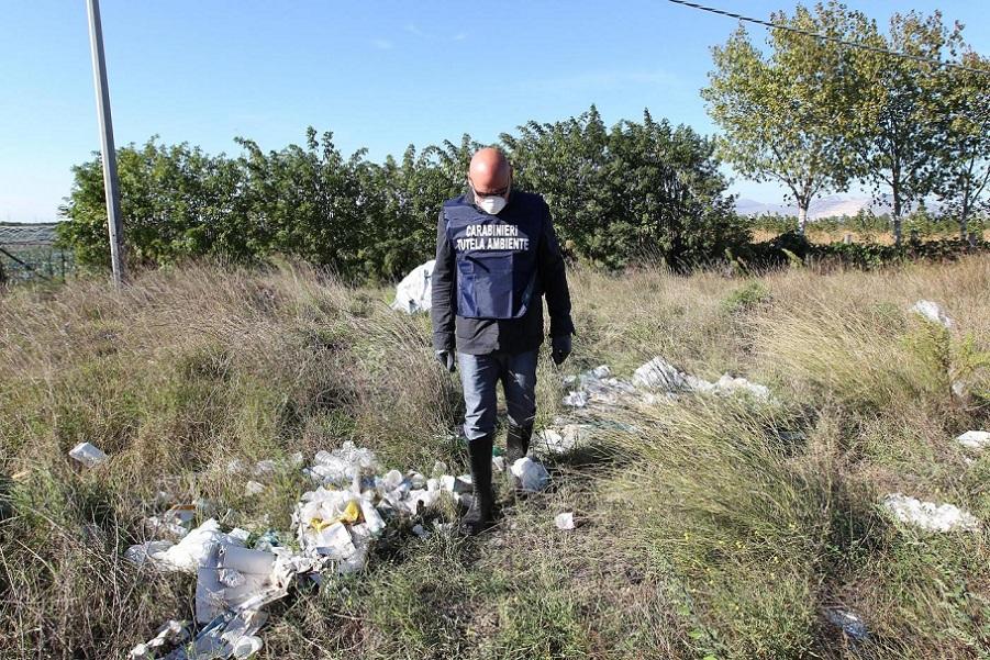 Caivano, discarica abusiva scoperta dai Carabinieri