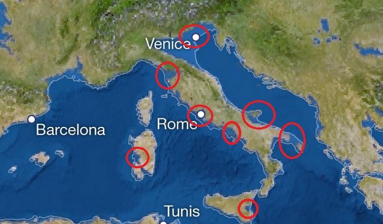 Come diventerebbe l 39 italia se tutto il ghiaccio del mondo - Regioni italiane non bagnate dal mare ...