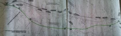 Le foto del nuovo ipotetico tracciato (linea verde) contro il vecchio (linea nera). Photocredit: Progetto-Acqua.it