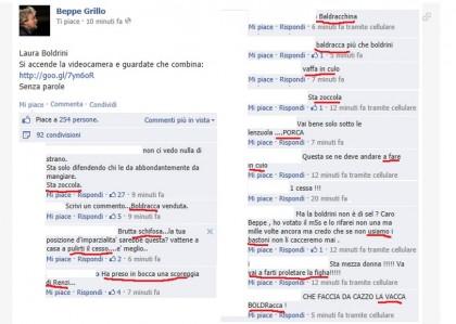 Laura Boldrini insulti