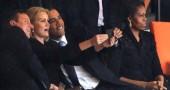 Barack Obama, David Cameron e le selfie al funerale di Nelson Mandela