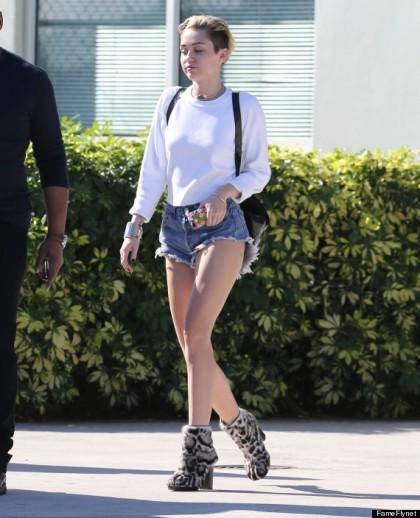Miley Cyrus Lands In Miami