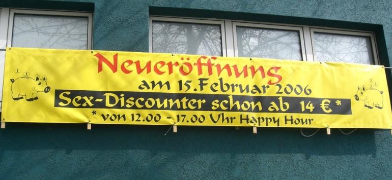 Offerte speciali da un locale tedesco