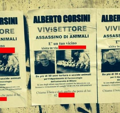 Alberto Corsini minacce sperimentazione animale animalisti 2