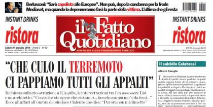Appalti L'Aquila terremoto inchiesta