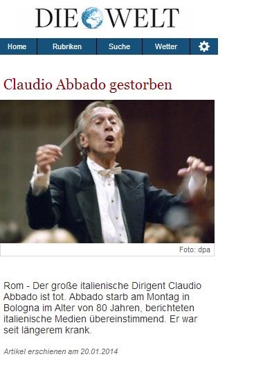 CLAUDIO ABBADO MORTO 2