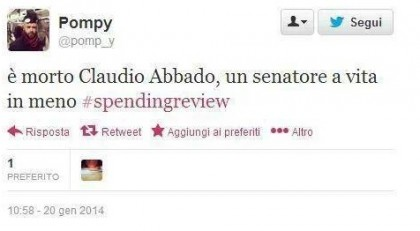 Claudio Abbado critiche senatore a vita 2
