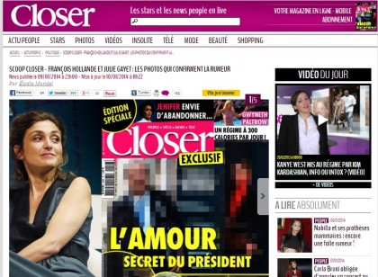 Francois Hollande amante Julie Gayet Closer 2