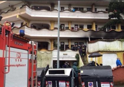 Incendio residence stranieri Roma 2
