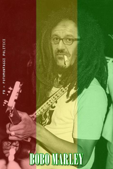 Bobo Marley - Opera di Fotomontaggi Politici