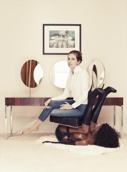 http://fashionbombdaily.com/2014/01/20/russian-socialite-garage-magazine-editor-in-chief-dasha-zhukova-sits-black-woman-chair-buro-247-interview/