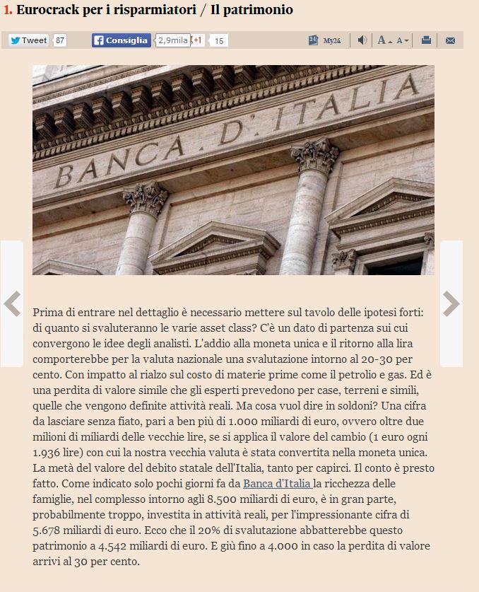 italia fuori dall'euro che succede 1
