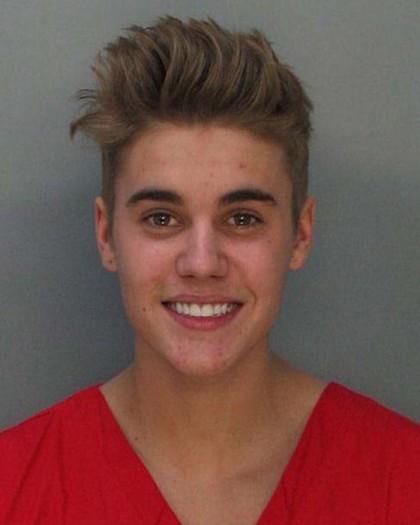 La foto segnaletica di Justin Bieber