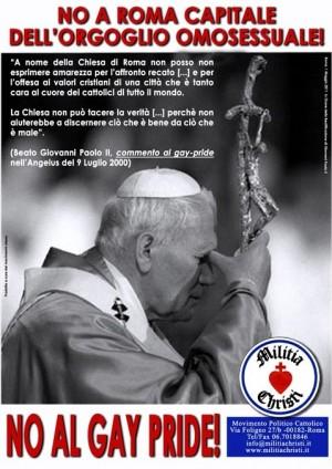 manifesto militia christi antigay omofobo giovanni paolo II 3