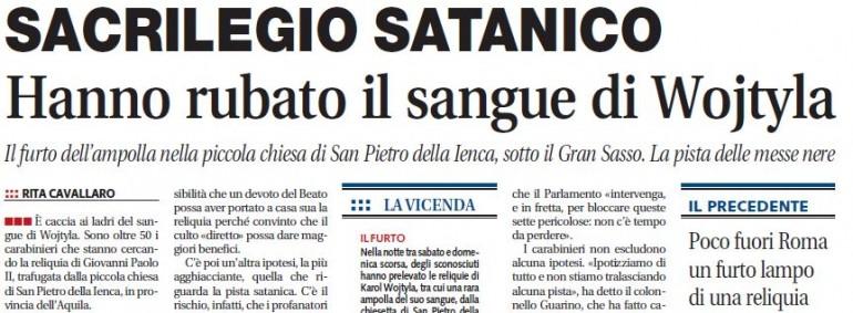 Sacrilegio satanico