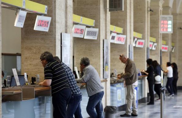 Inside A Poste Italiane SpA Post Office