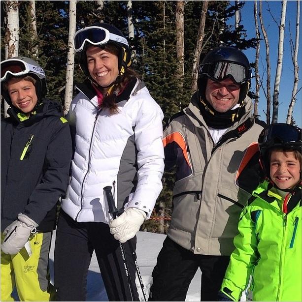 Rubens Barrichello in montagna con la famiglia (photocredit Instagram)