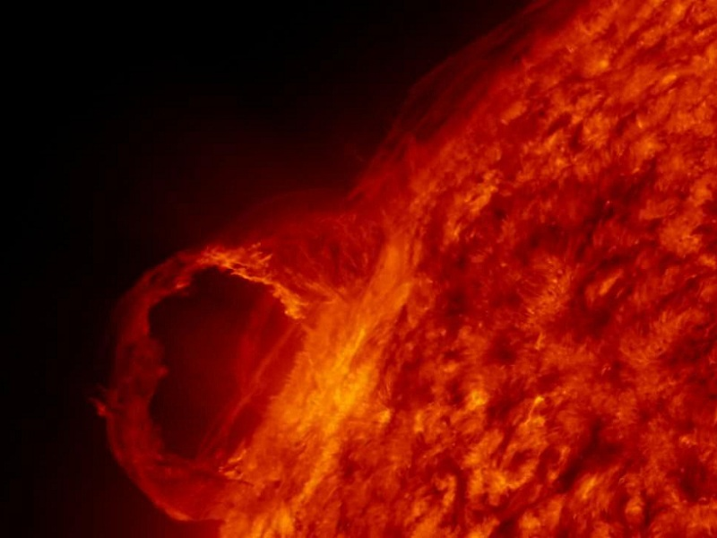 tempesta radiazioni sole