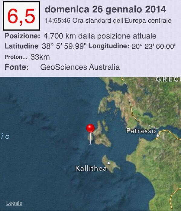 terremoto puglia epicentro in grecia