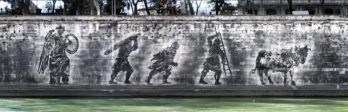tevere street art William Kentridge 3