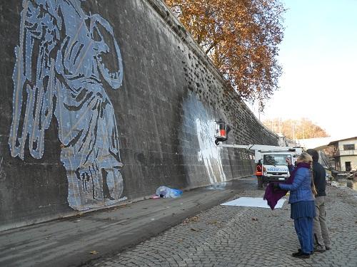 tevere street art William Kentridge