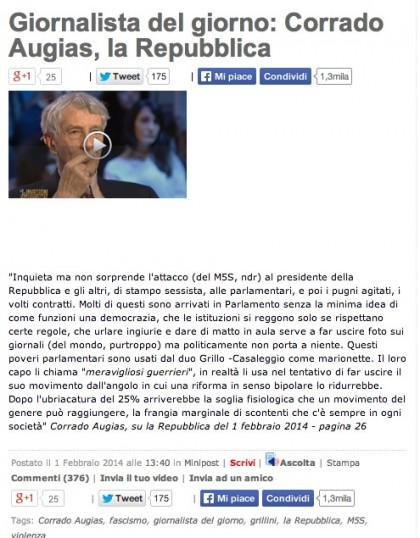 Corrado Auguas Movimento 5 Stelle insulti 13