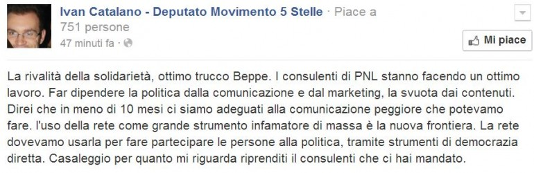 IVAN CATALANO MOVIMENTO 5 STELLE