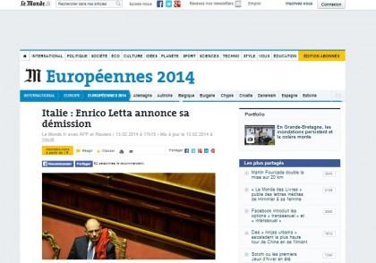 Matteo Renzi Enrico Letta giornali esteri 11