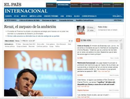 Matteo Renzi Enrico Letta giornali esteri 4