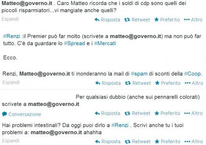 Matteo Renzi casella mail 4