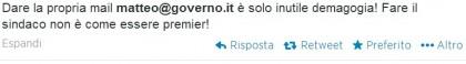 Matteo Renzi casella mail 5