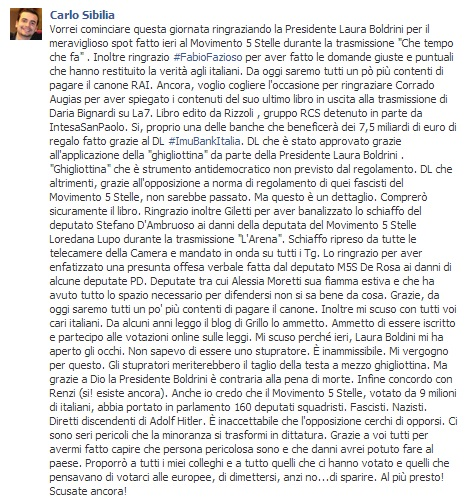 I potenziali stupratori del movimento 5 stelle for Presidente movimento 5 stelle