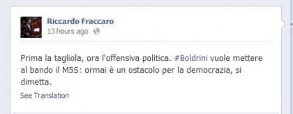 Movimento 5 Stelle Laura Boldrini Riccardo Fraccaro