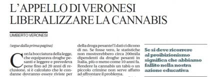 Umberto Veronesi cannabis lettera Repubblica