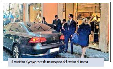 cécile kyenge auto blu shopping