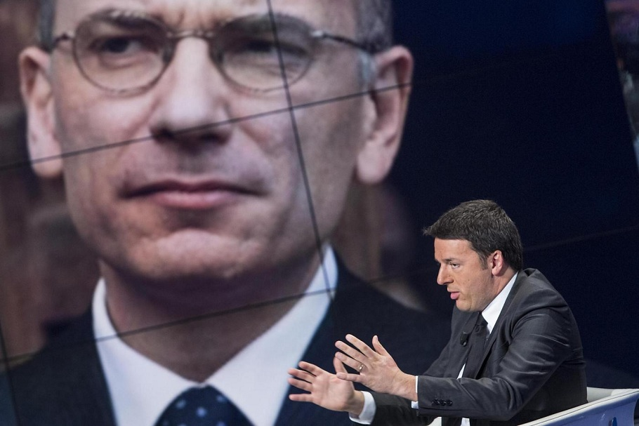 "Rai Uno - Matteo Renzi ospite a ""Porta a Porta"""