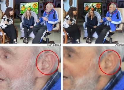 Cuba, le foto ufficiali di Fidel Castro manipolate