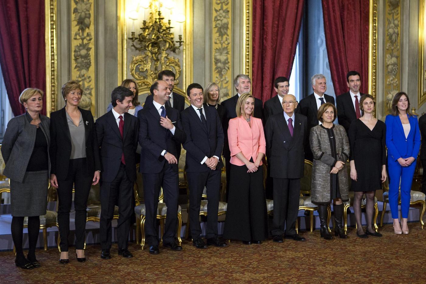 I ministri durante il Giuramento