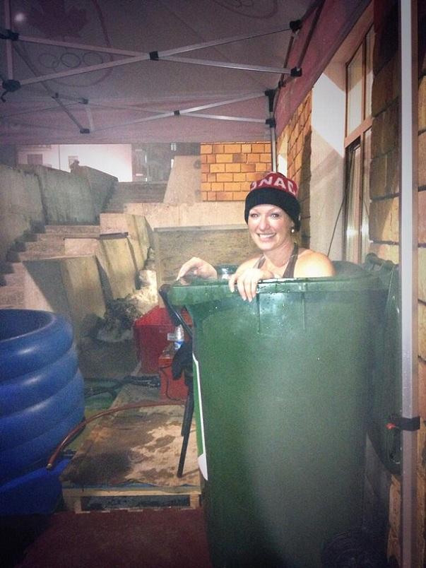 heather moyse bagno bidone spazzatura