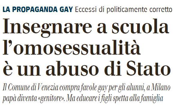 insegnare a scuola omosessualità