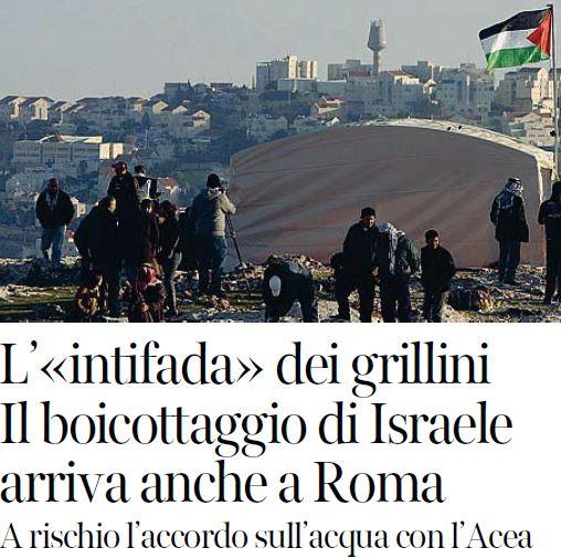movimento 5 stelle israele boicottaggio
