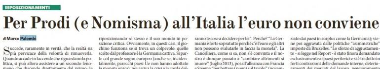 prodi nomisma italia euro non conviene