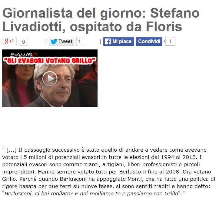 stefano livadiotti beppe grillo blog